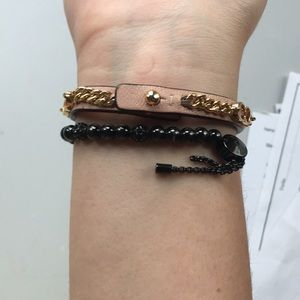 Coach Jewelry - Gold and Leather Bracelet
